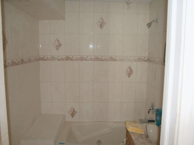 Decorative wall tile finished